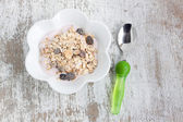 Tasty Muesli with yogurt — Stockfoto