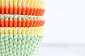Colourful paper baking cups — Stok fotoğraf