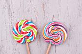 Two tasty Lollipops — Stock Photo