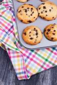 Chocolate Chip muffins — Stockfoto