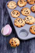 Chocolade chip muffins — Stockfoto