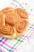 Delicious homemade bun — Stock Photo