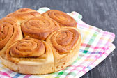 Delicious homemade bun — Stockfoto