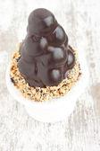 Profiteroles cake close up — Stock Photo