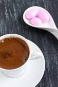 Turkish coffee and candies — Stockfoto