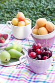 Assortiment de fruits en gros plan — Photo