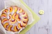 Peach cake — Stock Photo