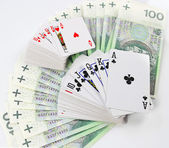 Polish money and cards — Stock Photo