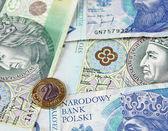 Polnische Zloty (Pln) Währung - Banknoten und-Münzen — Stockfoto
