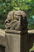 Temple of marquis stone bridge head — Stock Photo