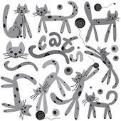 Cats - vector cartoons — Stock Vector
