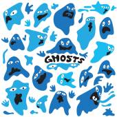 Ghosts cartoons — Stock Vector