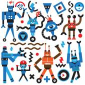 Robots icons — Stock Vector