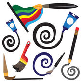 Paint tools cartoons — Stock Vector