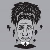 Mans stress ,fatigue — Stock Vector