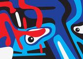 Abstract face — Stock Vector