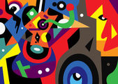 Abstract fantastic illustration — Stockvektor