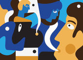 Lidé abstraktní ilustrace — Stock vektor