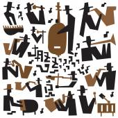 Jazz musicians - icons set — Vector de stock