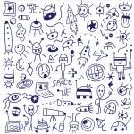 Space - doodles set — Stock Vector #61423345