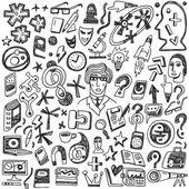 Bilim - doodles seti — Stok Vektör