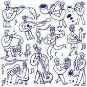 Musicians - cartoons set — Stock Vector