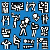 People , teamwork - set  icons — Stock Vector