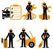 Car service maintenance icon — Stock Vector