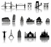 Set of icons (buildings, ancient, history) — Stockvektor
