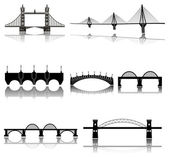 Bridges icons set — Stock Vector