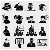 Higher education icons — Vetorial Stock