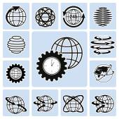 Globe icons. — Stock Vector