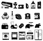 Household device Icons — Stock Vector