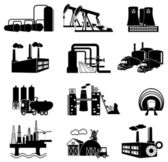 Industrial building factory and power plants — Stock Vector