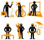 Engineer Mechanic Electrician — Stock Vector