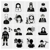 Profession icons set — Stockvektor