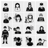 Profession icons set — Stock Vector