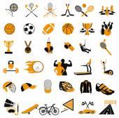 Collezione di icone dello sport — Vettoriale Stock