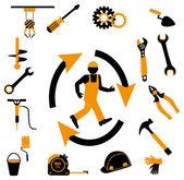 Industrial worker icon — Stok Vektör