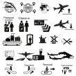 Airport icons set — Stock Vector #58500747