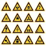 Standard hazard symbols — Stock Vector #72260799