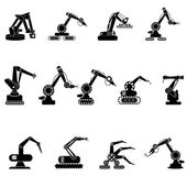Industrial engineering management icons set — Stock Vector
