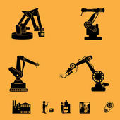 Robot icons set — Stock Vector