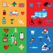 Healthcare and medicine icons set — Stock Vector