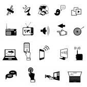 Set of media service flat icons — Stock Vector