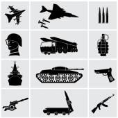 Black army iIcons — Stockvektor