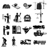 Construction objects set — Stock Vector