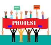 Politik. Protest Flag Banner — Stockvektor