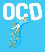 Obsessive compulsive disorder — Stock Vector