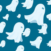 Cute ghost group flying together — Stock Vector